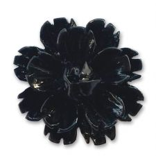 14mm Black Sakura Lucite Flower Resin Flatback Cabochons